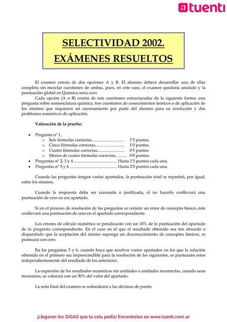 Examen De Quimica Medicina Ingreso Salud Udocz